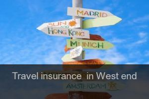 Travel insurance  in West end